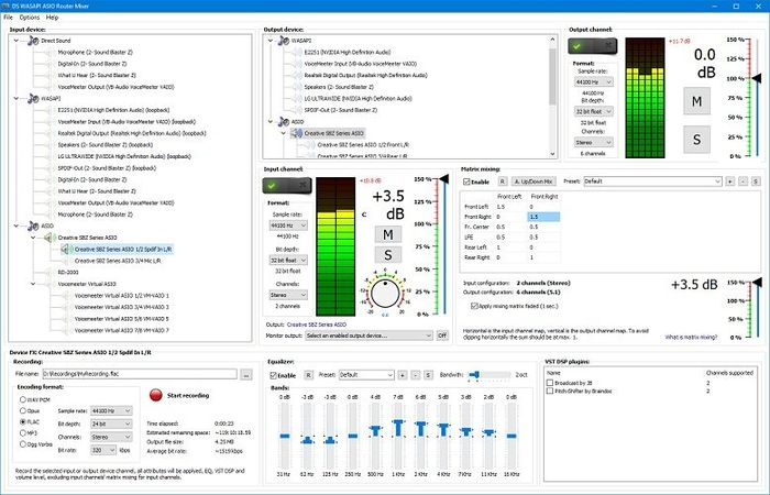 DS WASAPI ASIO Router Mixer v1.0.52.156
