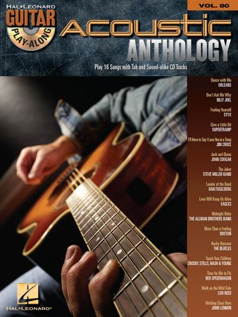 Acoustic Anthology Guitar Play-Along Volume 80 PDF MP3