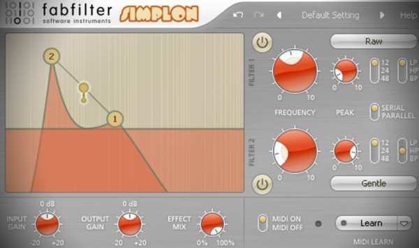Using Modulation with a 2 Band Filter Simplon TUTORiAL