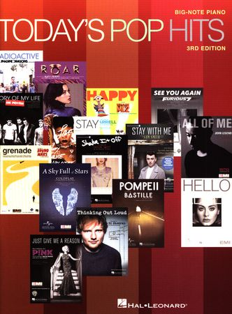 Today's Pop Hits for Big-Note Piano