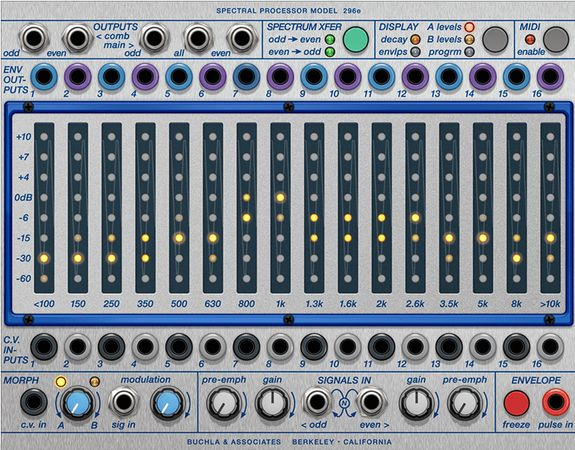 Buchla, 296e, Spectral, Processor, R2R, Software, AU, AAX, VST, VST3, VSTi, RTAS, x86, x64,MAGESY, Magesy®, Magesy Pro, magesypro