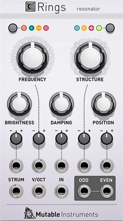 Mutable Instruments Rings v2.5.9-R2R
