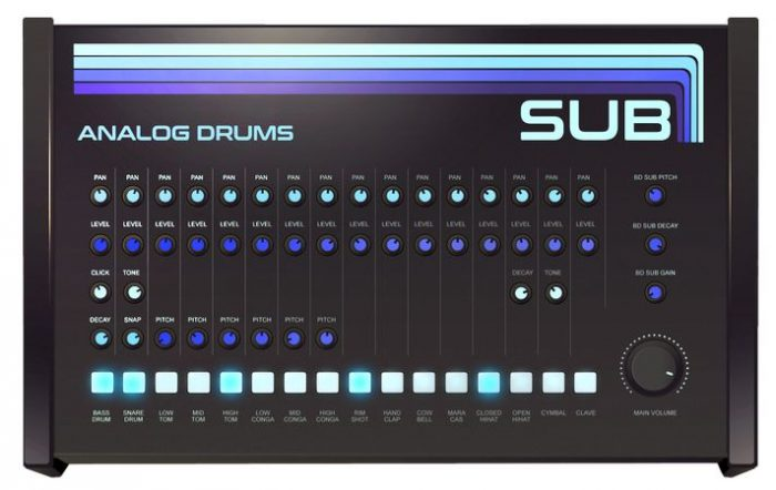 SUB Analog Drums v1.6 VST AU WiN MAC
