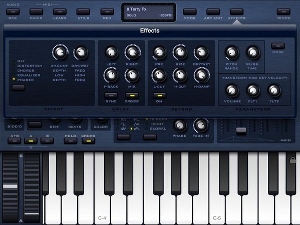 Sunrizer synth v2.0 iPad
