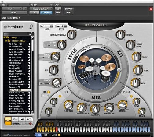 Digidesign Strike v1.5.1 RTAS MacOSX Intel with Content