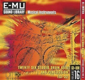 E-MU Studio Drum Kits & Percussion for Emulator X3