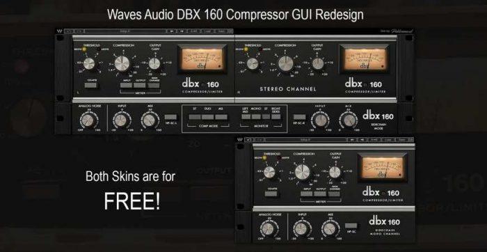 DBX 160 Comp Limiter GUI Redesigned Skin