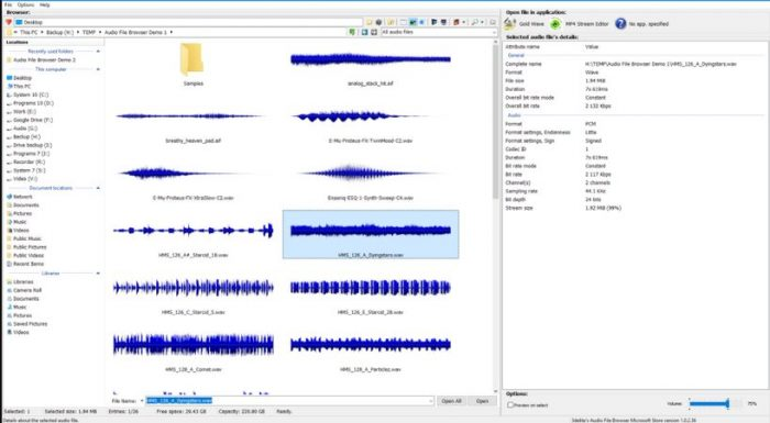 Audio File Browser V1.0.8.46 Win
